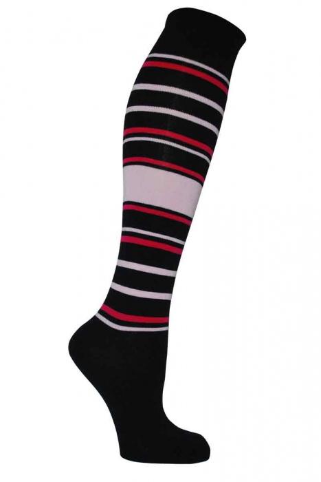 Frauen gemusterte 3/4 Bambus-Socken