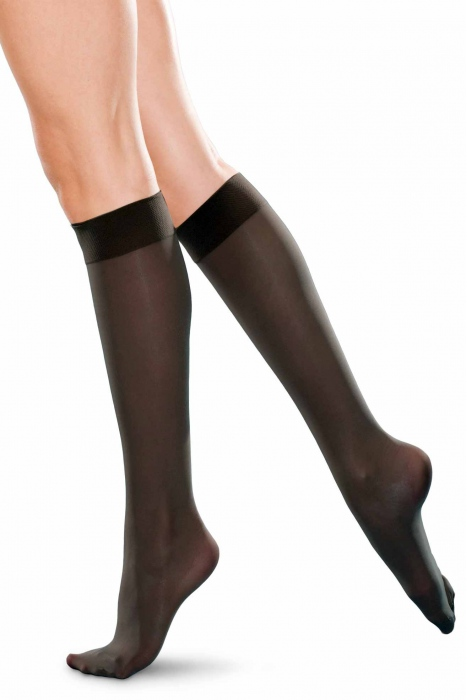 Kniehoch ladies Socken klassisch 20 den