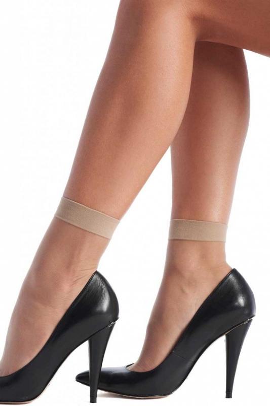 Ladys schiere Socken mit Lycra 20 den