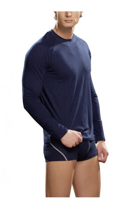 Männer T-Shirt lange Ärmel Baumwolle Lycra Lord 286