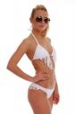 Bikini eingestellt Triangle weich und brasilianische mit exquisiten fallenden Fransen 1158 angeordnet