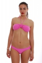 Bikini Set Bando mit Polsterung & Niedrige Taille 1181