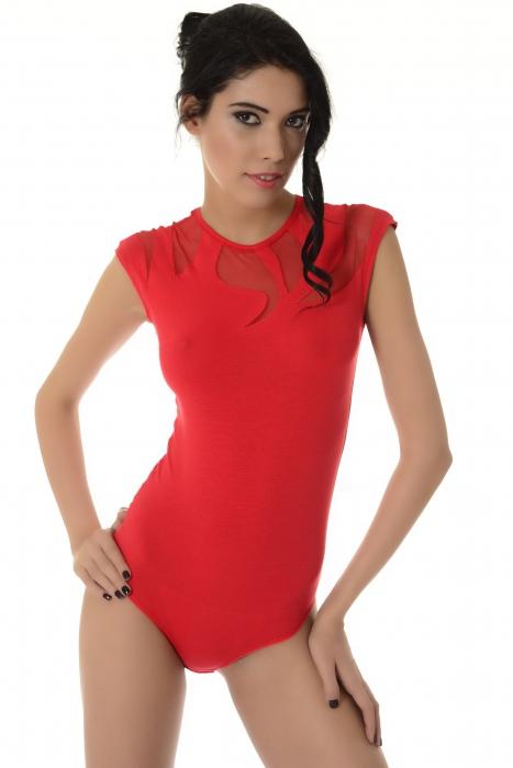 Damen sleeveless Body Dekoration von empfindlichen Tull Tanga 1443