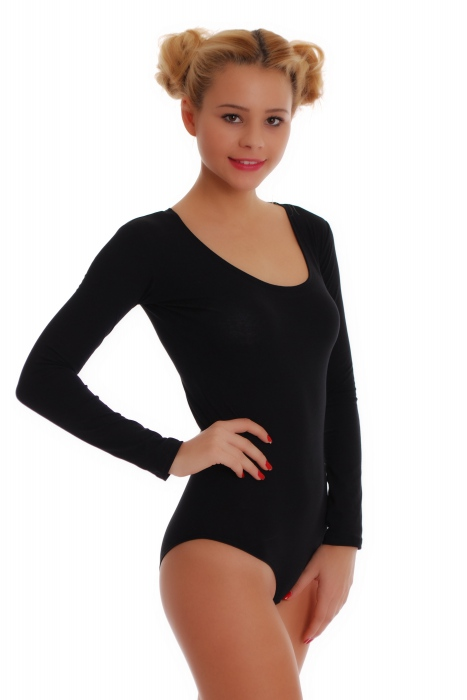 Cotton Frauen Langarm-Body Bikini-Stil 1380