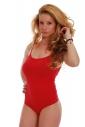 Baumwolle Damen Bodysuit Thin-Bügel-Weste Thong Stil 1350
