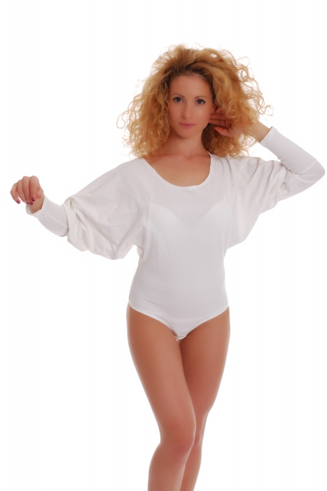 Damen Thermal Body-Rundhalsausschnitt Langarm Thong Stil 15-88