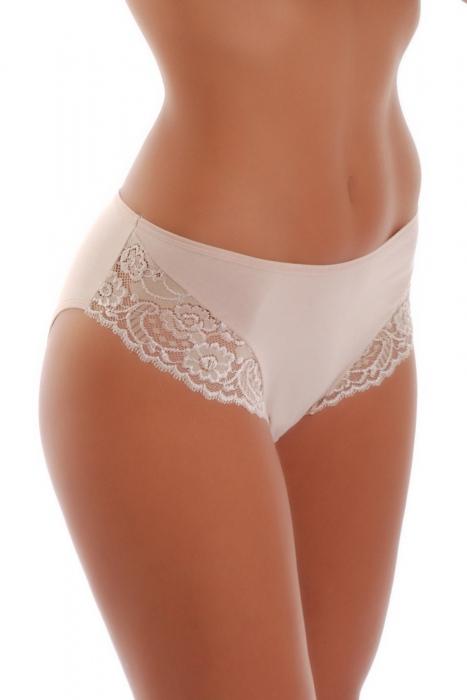 Tief Cotton Classic Brief Panties Weiter Gürtel mit Spitze 025
