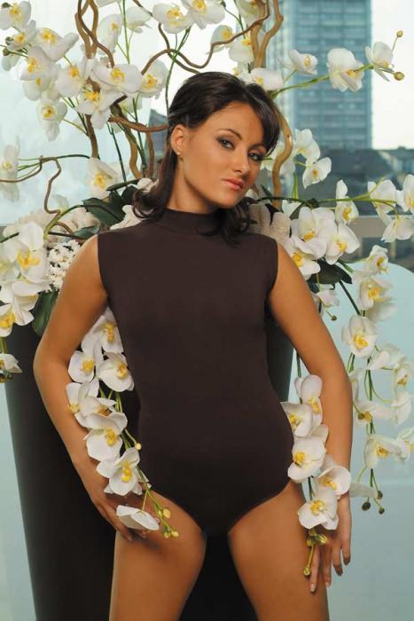 Baumwoll-Frauen-Bodysuit ohne Ärmel Semi-Polo Bikini Style 1335