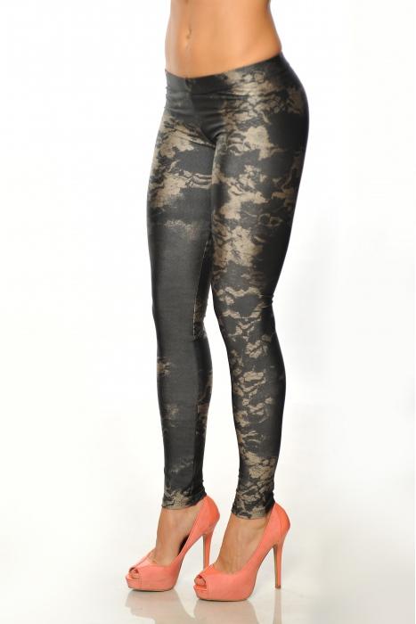 Frauen elastische Leggings drucken 1505-3