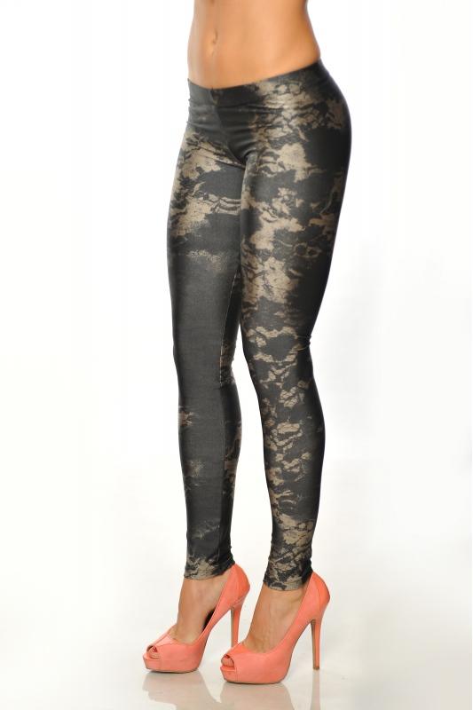 Frauen-elastische Leggings drucken 1505-3