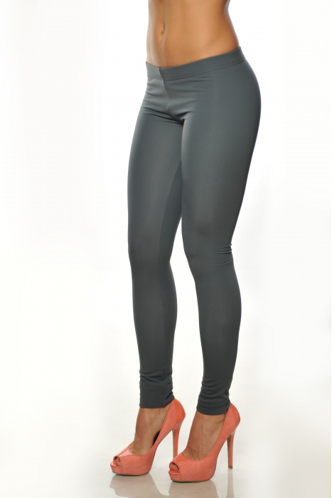 Dunkelgrau Frauen thermische wadded Leggings 15055