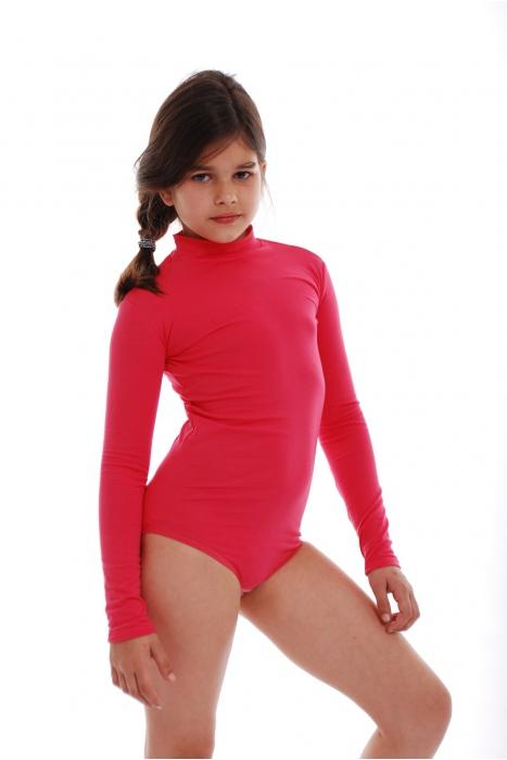 Child Long Sleeve Rollkragen Body Mädchen Leotardl 1492