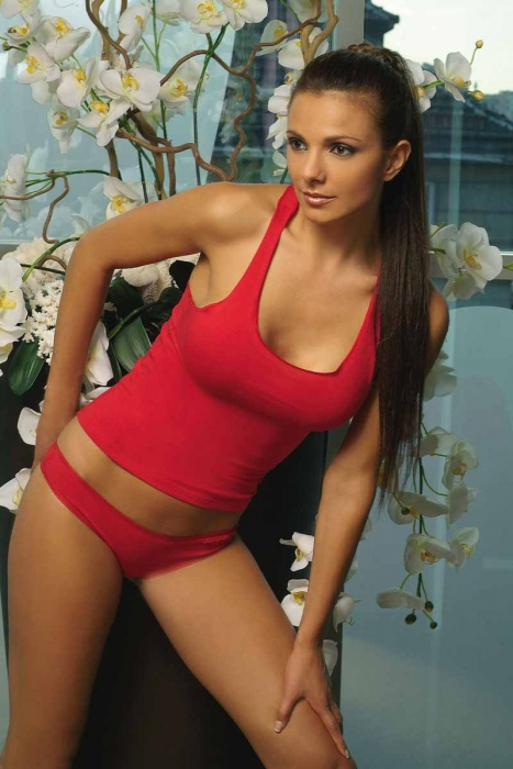 Ladies Cotton Set Corsage & Thong Höschen 1207-1477