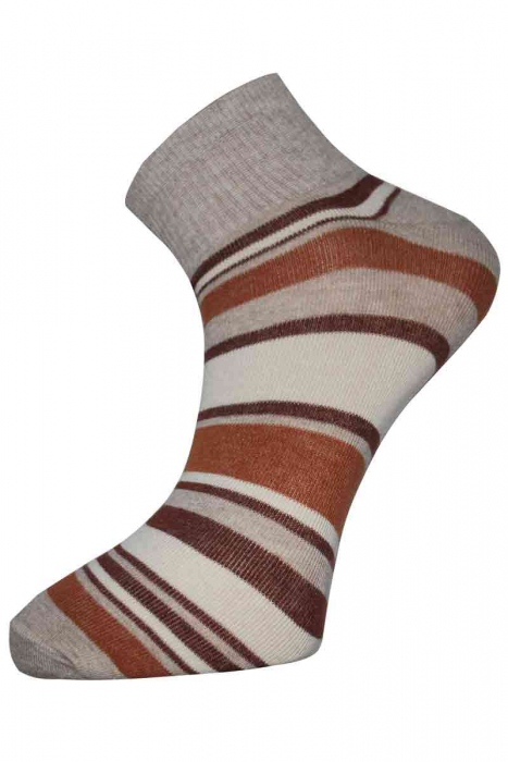 Striped Frauen Trainer Baumwollsocken