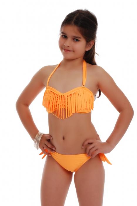 Junior Bikini Badeanzug bando macrame Böden Krawatte Seite 1116