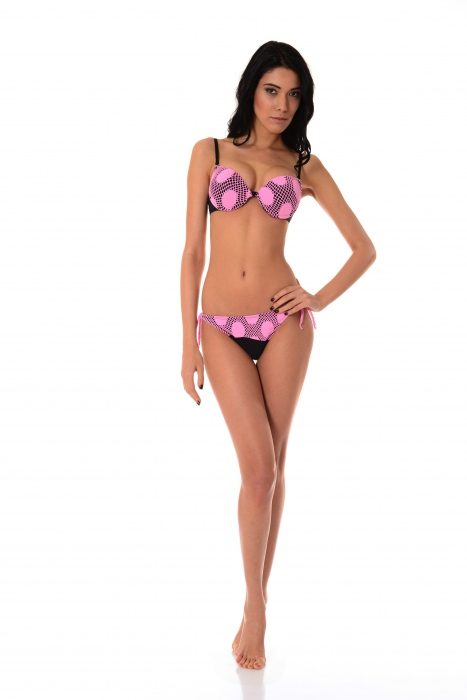 Bikini Set Push up harten Cup & Bottoms dünne Krawatte 1176