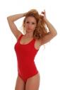 Baumwoll-Damen-Bodysuit mit breiten Riemen-String-Stil 1355