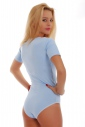 Baumwolle Bodysuit Rundhals Kurzarm Bikini Style 1445