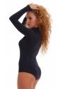 Baumwolle Bodysuit Turtle Neck Langarm Bikini Style 1338