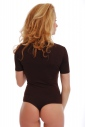 Baumwoll-Bodysuit Turtle Neck Kurzarm Tanga Style 1430