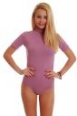 Baumwoll-Bodysuit Turtle Neck Kurzarm Bikini Style 1435