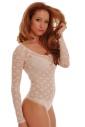 Lace Damen Bodysuit Rundhals Langarm Tanga Stil 901