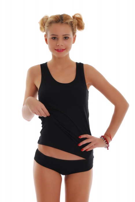 Frauen Set Tank Top Open Back & Boyshorts Höschen 1205-1065