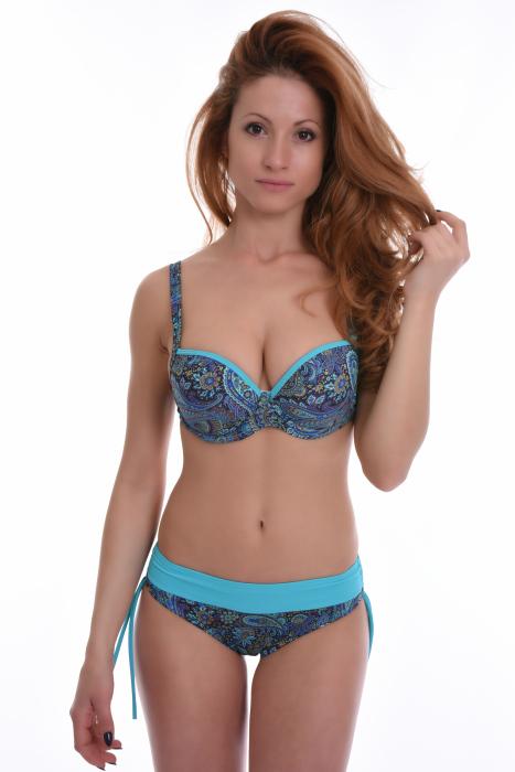 Bikini-Set hart geformte Tasse & kurze Bikini-Unterseiten 1798